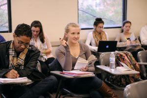 Inside an undergraduate classroom at Adelphi