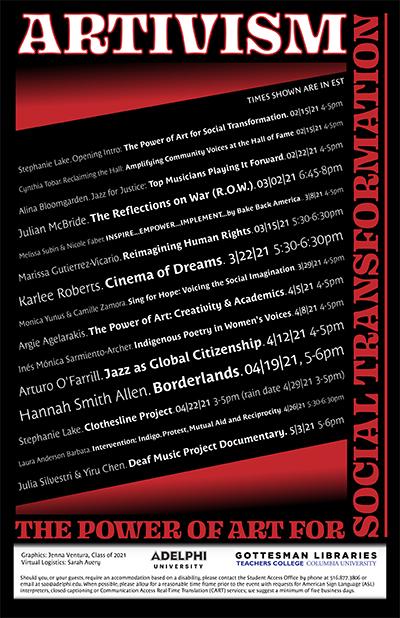 Artivism Event Series Poster