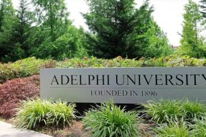 A view of the lush greenery near the Adelphi Sign