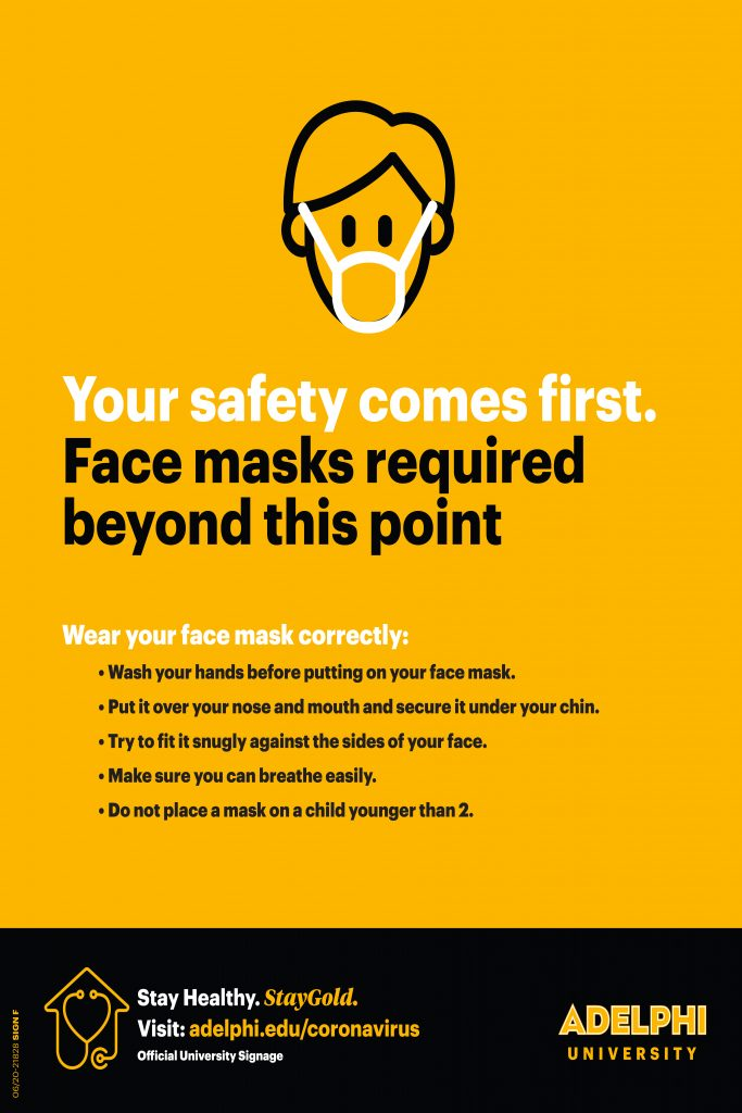 Your safety comes first. Face masks required beyond this point.