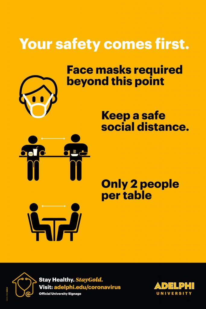 Your safety comes first. Face masks required. Keep a safe social distance. Only 2 people per table.