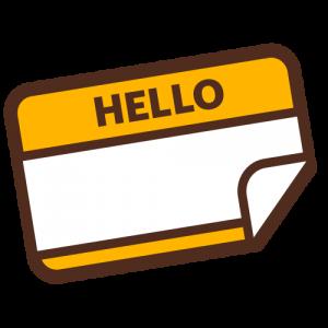 """""""Hello"""" Name Tag Icon"""