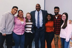 Dean Sentwali with Students
