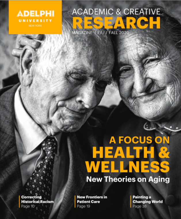Adelphi University Research & Creative Works Magazine Cover 2020 Issue
