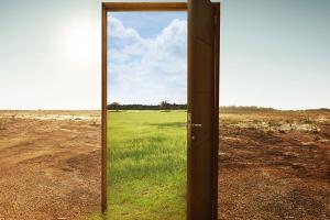 an open doorway