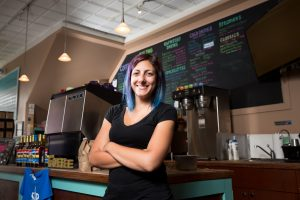 Stephanie Pontillo is an Adelphi alumni and owner of Sip This coffee shop.