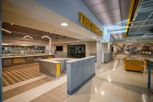 Food court in the UC Dining Hall