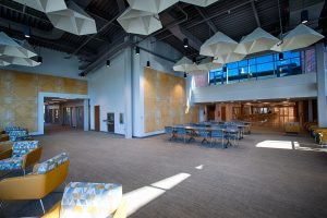 Seating space in the main lobby area of the UC - first floor