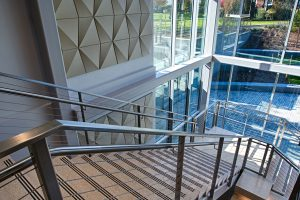 Staircase to the dining area in the UC