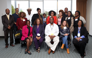 Adelphi Multicultural Chapter MCC poses for a group photo 2017