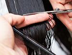 Person getting hair cut