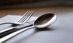 Silverware on a table
