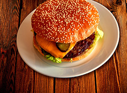 Burger on a Plate