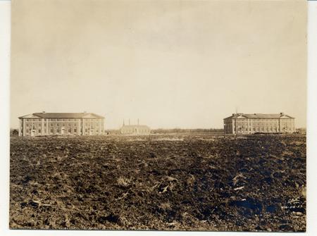 Adelphi University's original 3 buildings - Garden City, 1929