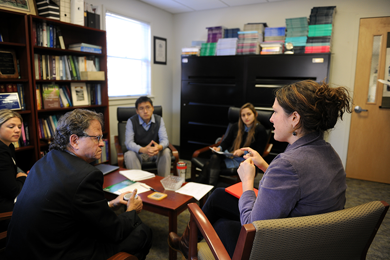Jacques Barber with Adelphi doctoral students