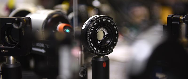 Close up of the Adelphi physics equipment