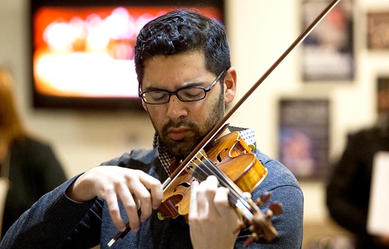 Violinist at Adelphi University