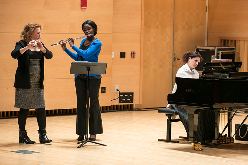 Junior Audition Workshop at Adelphi features flutists