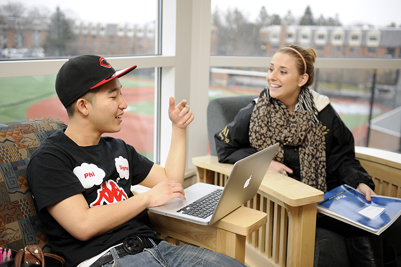 Adelphi students access wifi in Adelphi dorms