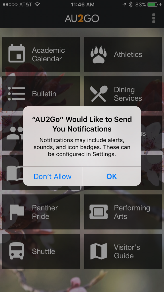 AU2Go Push Notifications