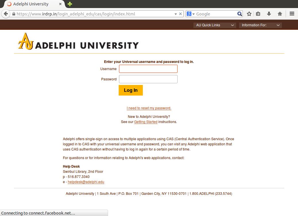 Phish Example - CAS Page