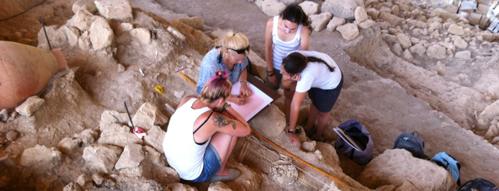 Students on Site in Crete