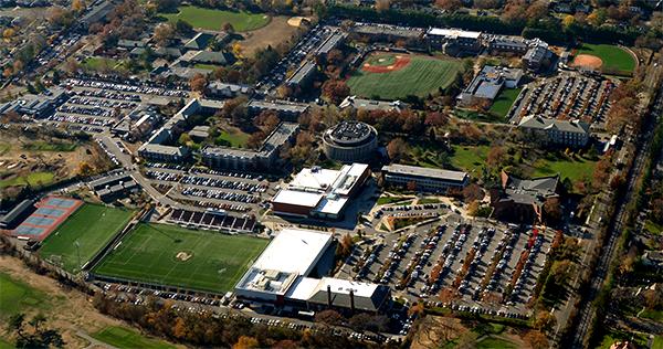 Aerial view of Adelphi University