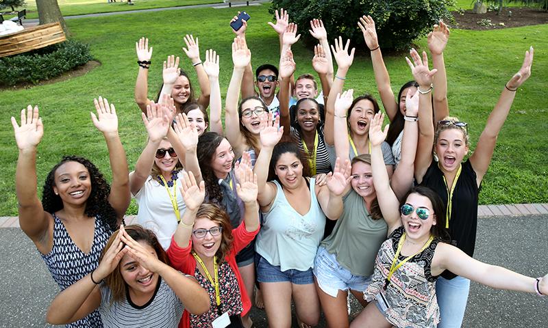 Students having fun at Adelphi