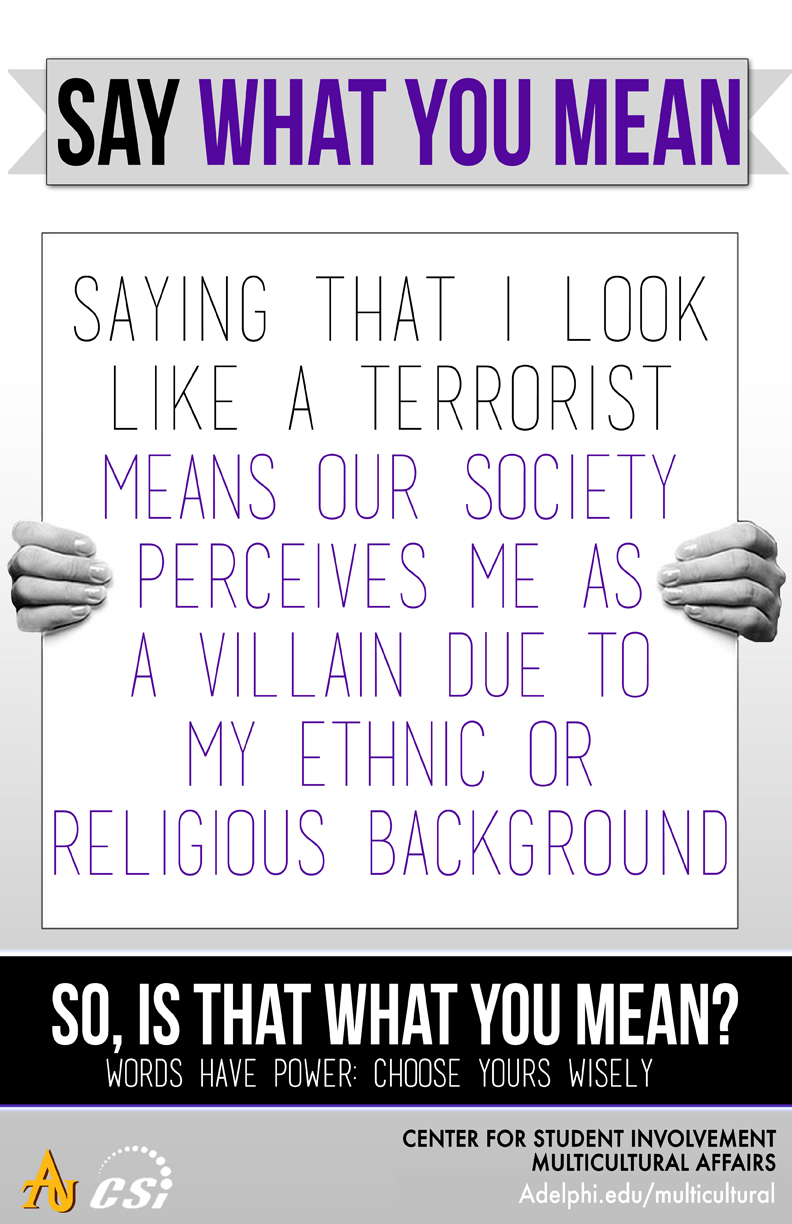 Say What You Mean - Look Like a Terrorist