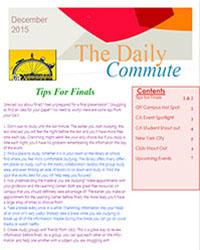 Commuter Newsletter December 2015