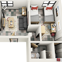 icon-Adelphi-University-Double-in-Suite-2B-EA-New-2nd-Floor-3D