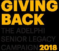 Giving Back - The Adelphi Senior Legacy Campaign 2018 - Logo