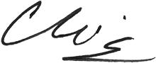 President Christine M. Riordan Signature