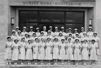 Ann Raab (née Sickmon) '54 with her fellow nursing students.