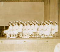 Janet Dannenberg (née Murphy) '53 with fellow nursing students.
