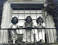 Joyce Ostrowski (née Hollister) '46 with classmates