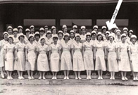 Dr. Sylvia Fields (née Kleiman) '54 with her fellow nursing students.