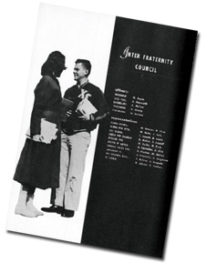 Yearbook page - Inter-Greek Council -1960s