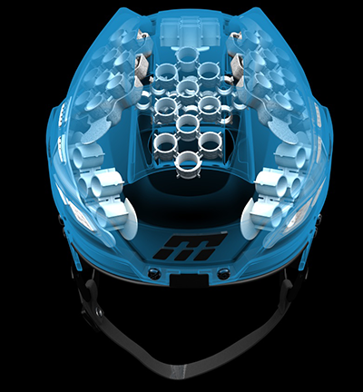 A revolutionary hockey helmet
