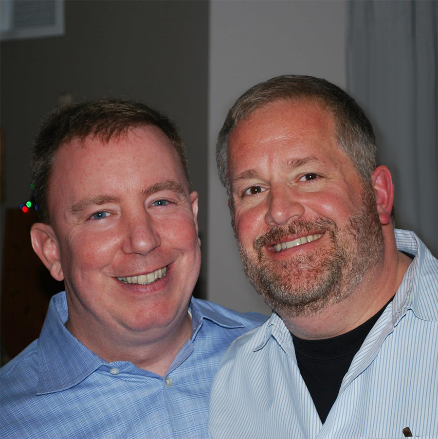 Scott James '84 and Jerry Cain
