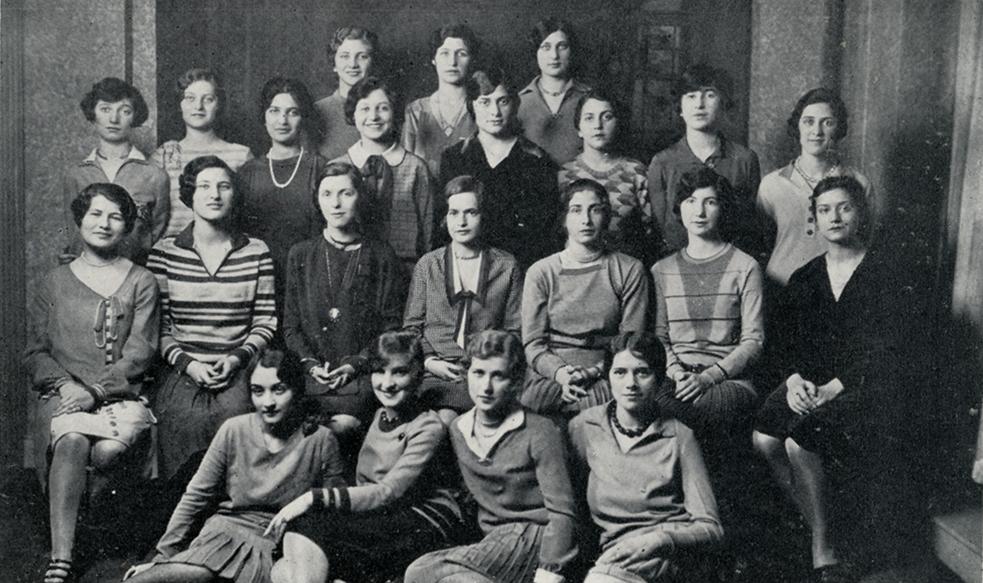 Members of Adelphi's Alpha Epsilon Phi chapter, circa 1929