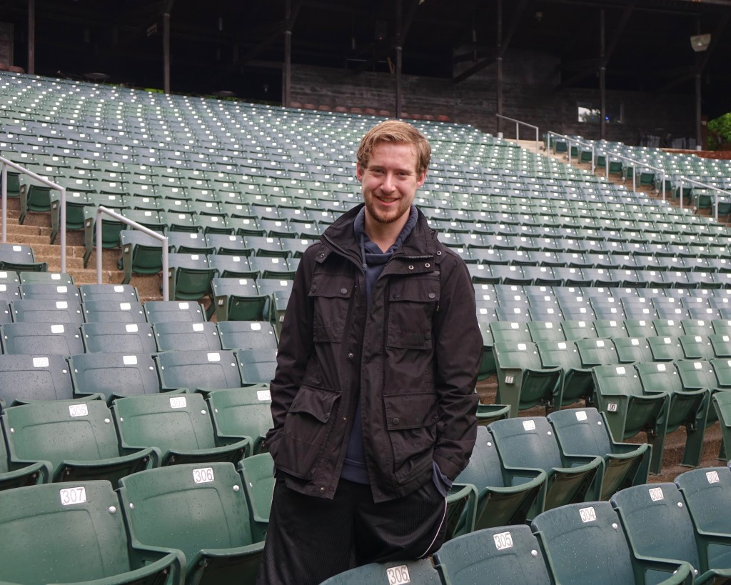 Christopher Myers '16 at the Sugarloaf Mountain Amphitheatre.