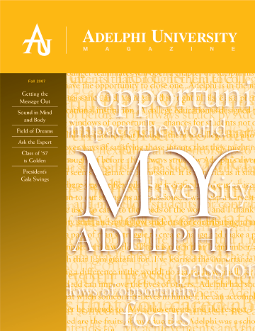 Adelphi Magazine: Fall 2007