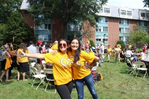 Students at Adelphi University's first Panther Picnic.