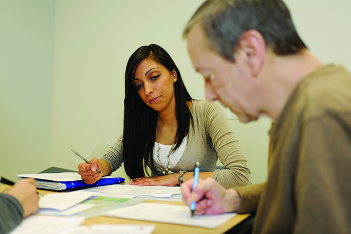 Students gain clinical experiences in aphasia therapy at Adelphi's Hy Weinberg Center