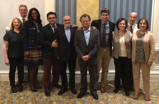 Pictured above: Gordon Derner Advisory Board Meeting, October 5th, 2016. From left to right: Drs. Anita D'Amico, Sam Weisman, Marjorie Hill, Jairo Fuertes, Bob Mendelsohn, Jacques Barber, Chris Muran, Carolida Steiner, Alex Levi, and Grace Pilcer.