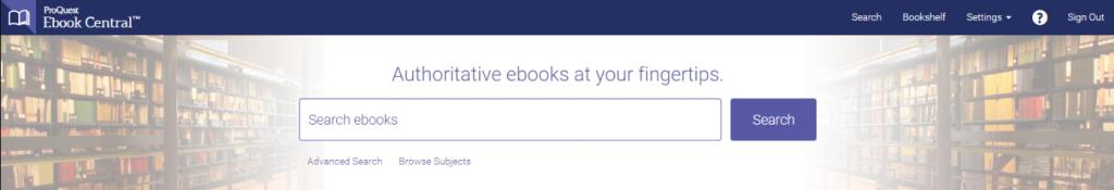 eBook Central Header Image