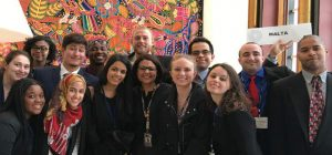 students at the United Nations