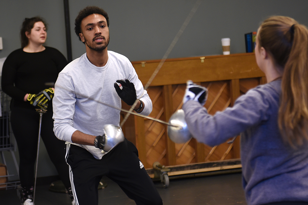 Adelphi Student fencing