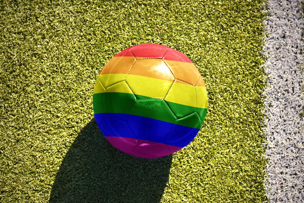 Rainbow Soccer Ball